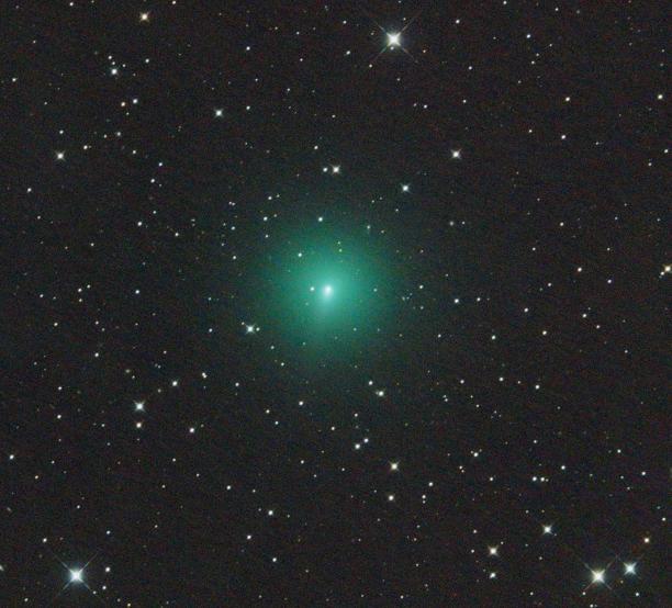 La cometa C/2019 Y4 (ATLAS) ripresa da Martin Gembec (astrofilo ceco) il 14 Marzo, con un telescopio Orion CT8 di 20 cm di apertura.
